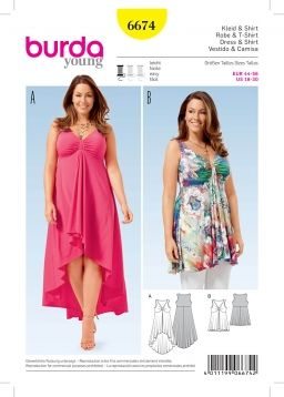 2b96d542c0ef Burda 6674 | Sewing | Shirt dress pattern, Summer dresses och Plus ...