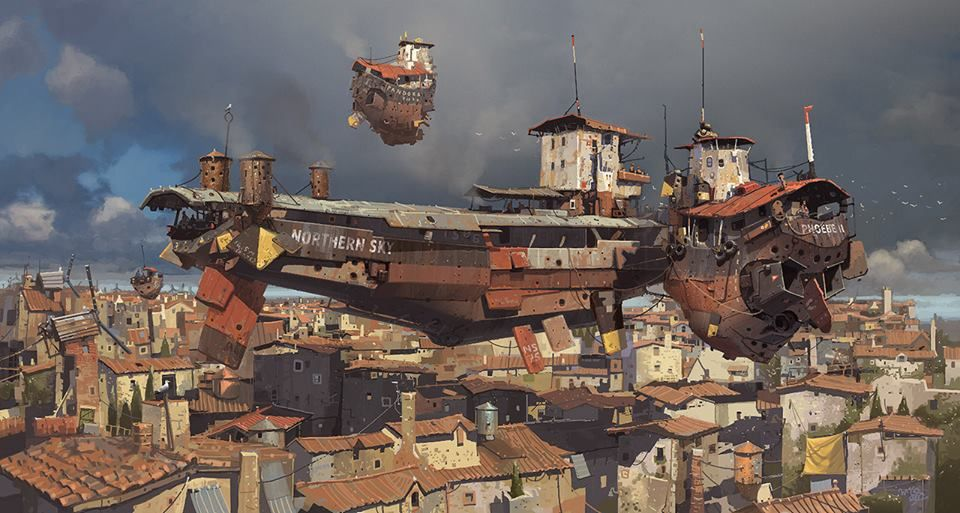 Robots and Flying Machines by Ian McQue  SEE MORE http://ow.ly/jMYrP