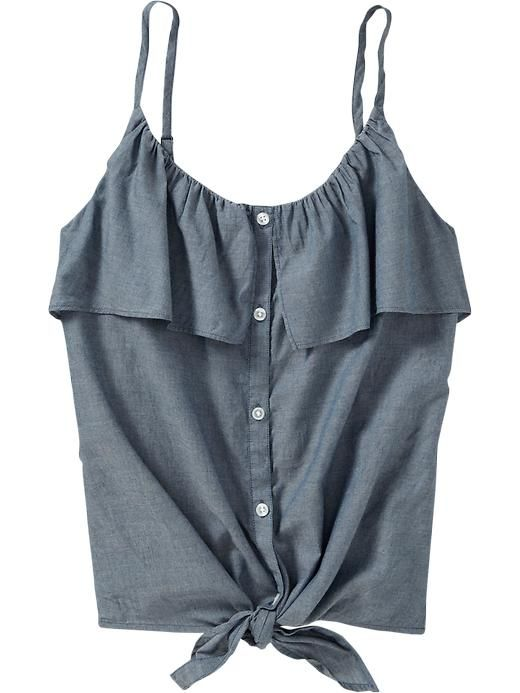 Button Front Chambray $19.94