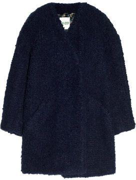 KENZO Oversized faux fur coat