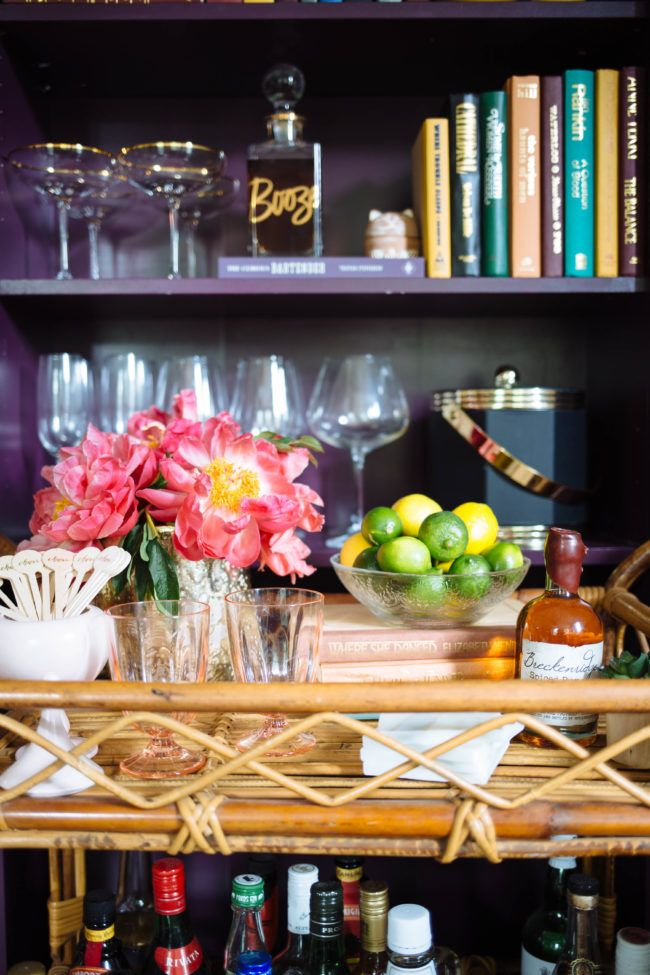 Way to Style a Bar Cart -