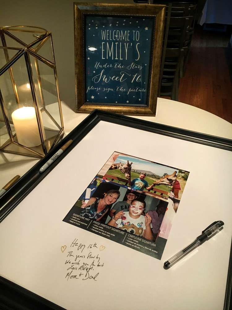 Emily's Under the Stars Sweet 16 | CatchMyParty.com #sweetsixteen