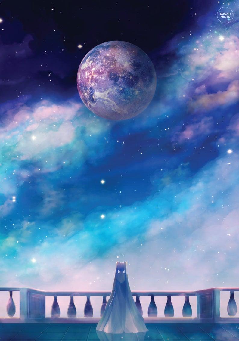 Cute Moon Wallpaperhttp Wallpaper Galaxy Iphone Hd 4k Kamod Xyz Background Cute Moon Wallpaper I In 2020 Sailor Moon Wallpaper Sailor Moon Background Sailor Moon Art