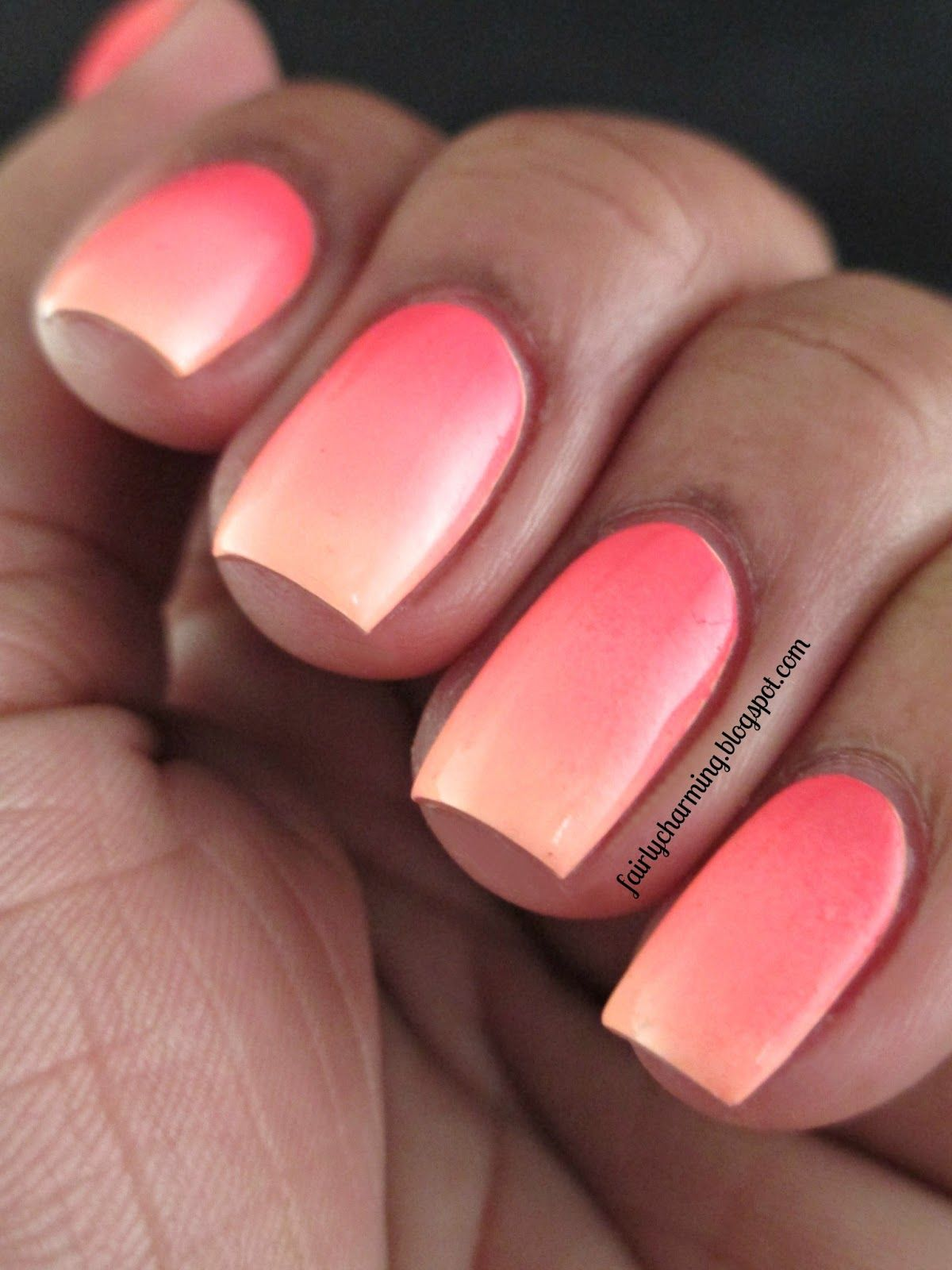 neon coral nail polish gel - Sök på Google | Nails | Pinterest ...