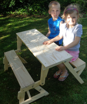 Kids Sitting At Picnic Table Garden In 2019 Folding
