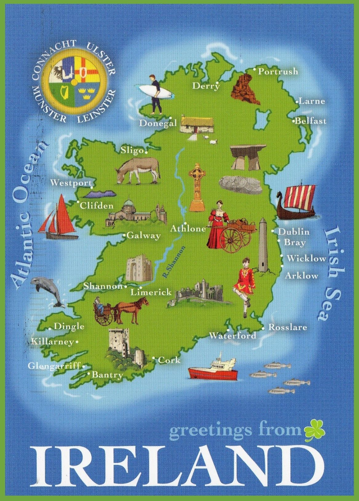 Ireland tourist map maps of ireland Pinterest Tourist map