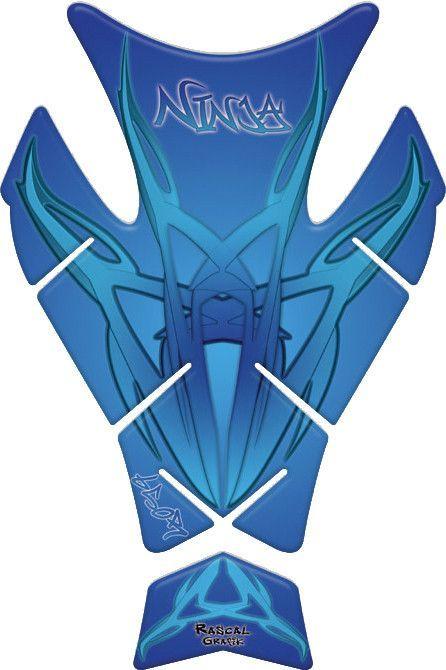 RASCAL GRAFIK TANK PAD KAW NINJA 650 BLUE - Part# RA36335