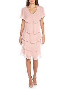 301f0643e42555 SLNY Rhinestone Embellished V Neck Tiered Dress in 2019 | Wedding ...