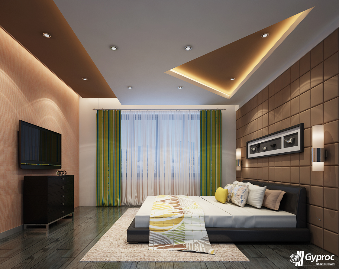 Here 39 s an attractive and inspiring ceiling for the for Master bedroom ceiling designs