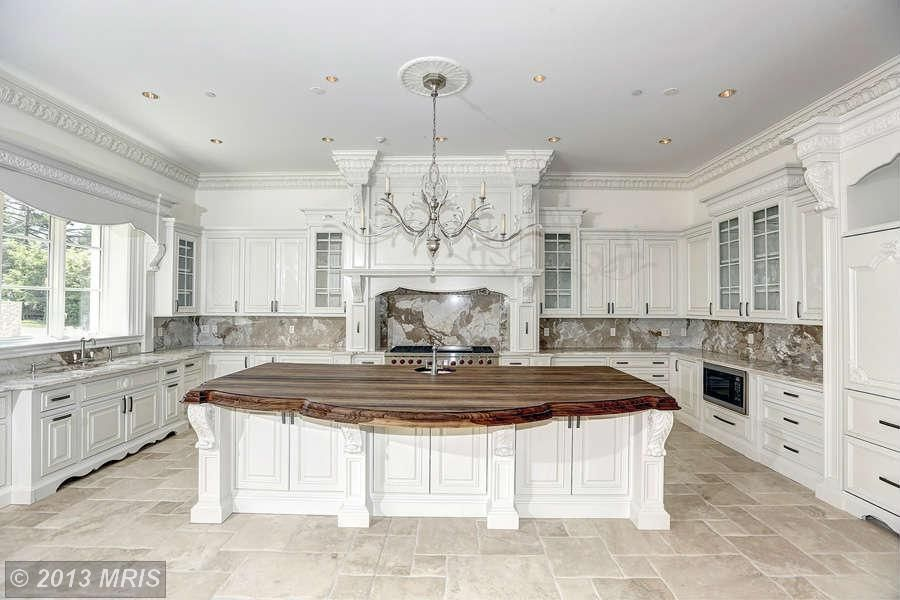 Gorgeous Kitchen Renovation In Potomac Maryland: Traditional Kitchen With Wood Counters, Undermount Sink