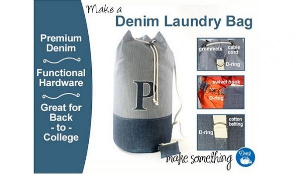 Tutorial Denim Laundry Bag With Detachable Coin Pouch Laundry