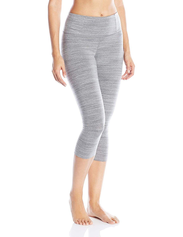 Women's Essential Capri - Dark Heather Grey - CQ12CW4J2I9 - Sports & Fitness Clothing, Women, Tights...