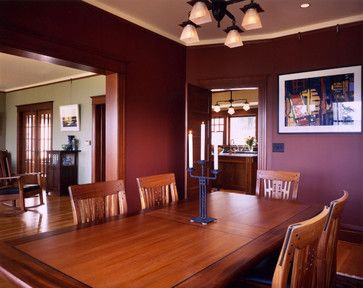 With Dark Wood Trim Burgundy Walls Dining Room Paint Colors