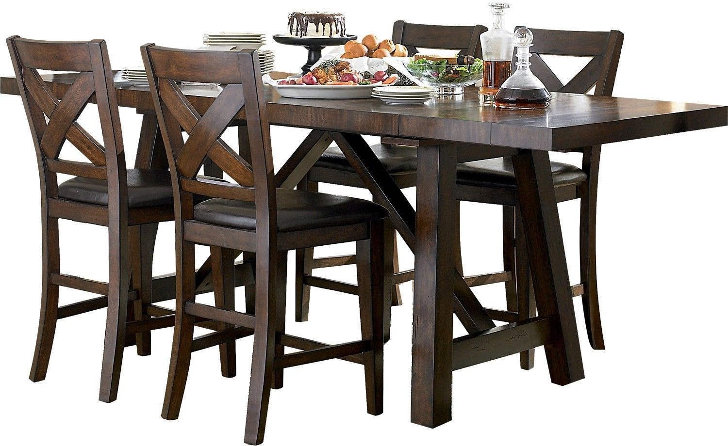 Adara 5 Piece Counter Height Dining Package Rectangle Table