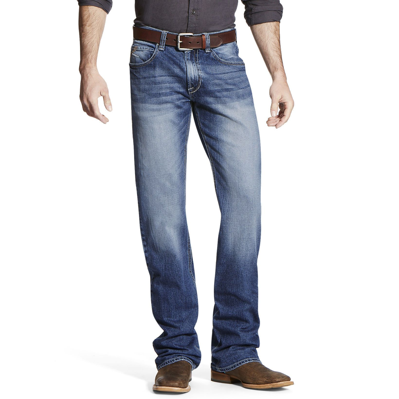 Men's M4 Low Rise Stretch Cole Boot Cut Jeans in Fargo Cotton, 42 X 30 30″ by Ariat – Products