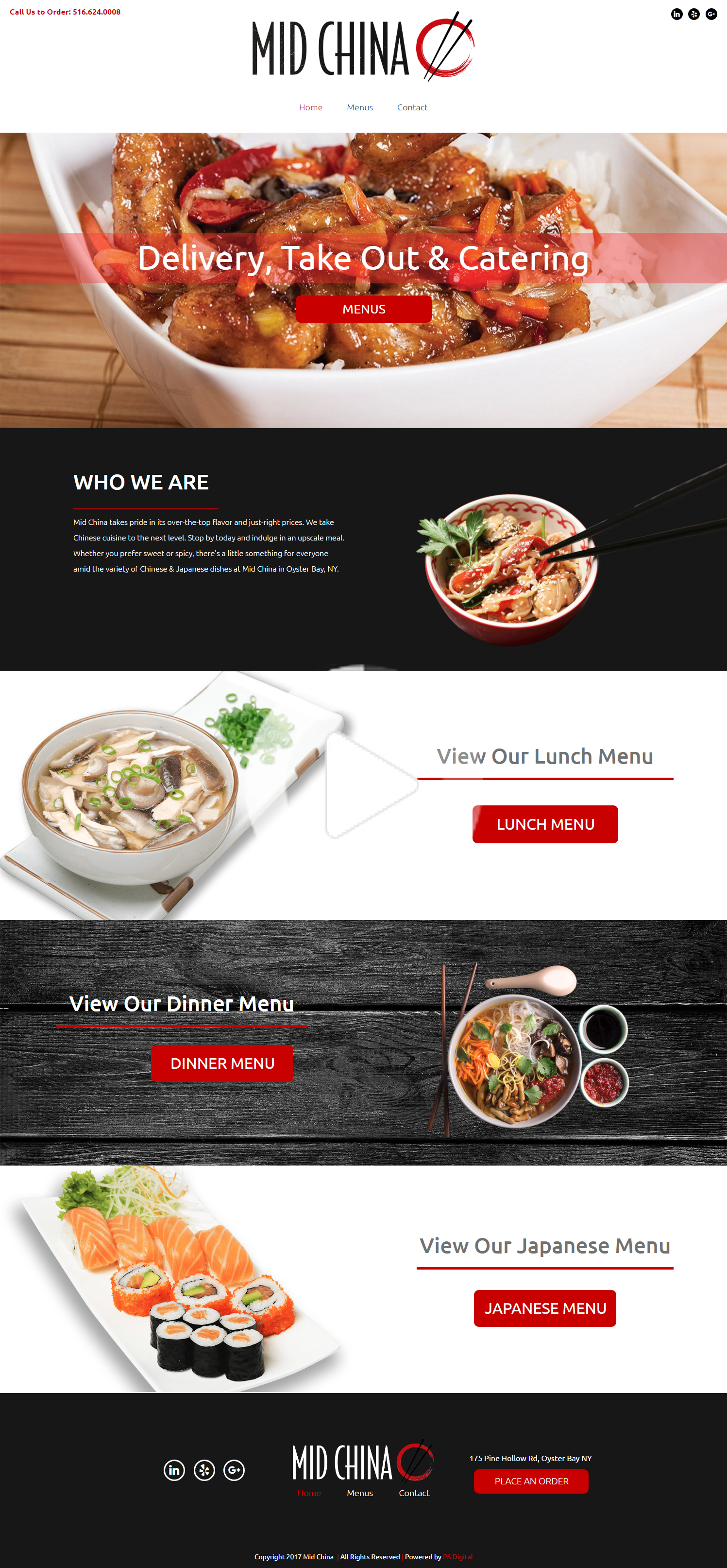 Chinese Food Restaurant Web Design Layout In 2020 Chinese Food Restaurant Food Website Design Restaurant Web