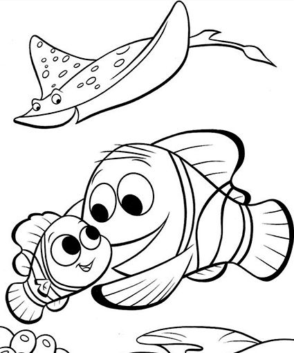 - Marlin, Nemo, And Mr. Ray Nemo Coloring Pages, Finding Nemo Coloring  Pages, Coloring Books