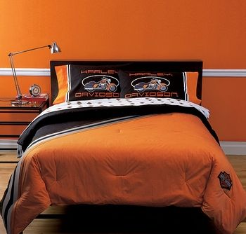 Harley Davidson Classic Bed Set For Kids Teens Adults Harley Davidson Bedding Bedding Sets Bed In A Bag