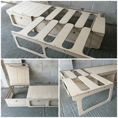 Ampliación de cama de elevación de deslizamiento con almacenamiento-Camper/Autocaravana/van conversión  | eBay