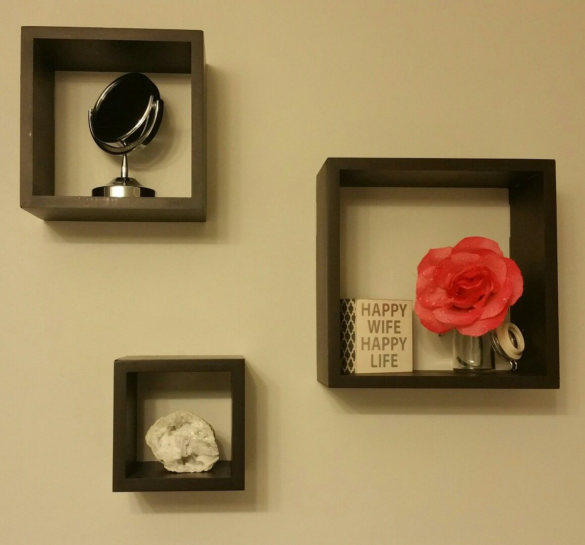 Small space decor- wall box shelves | our new house | Pinterest ...