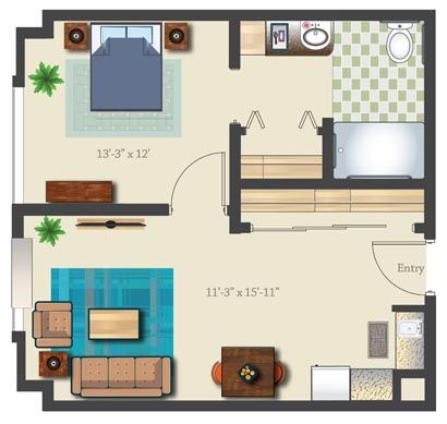 Assisted Living Apartment Floor Plans Google Search