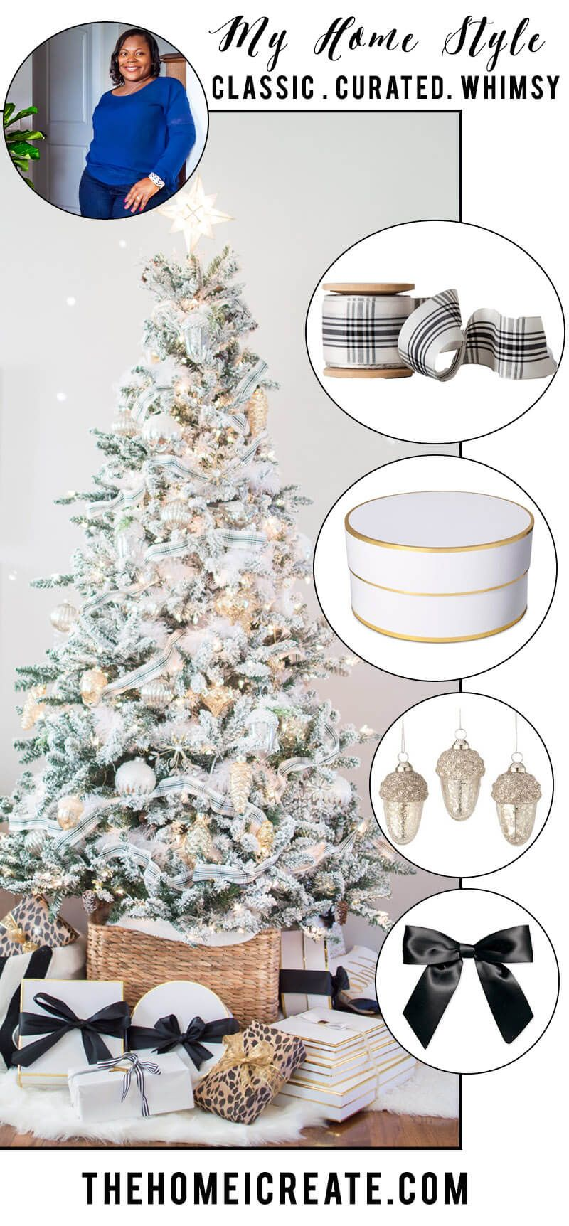 Mercury Glass Christmas Tree | Flocked christmas trees, Mercury ...