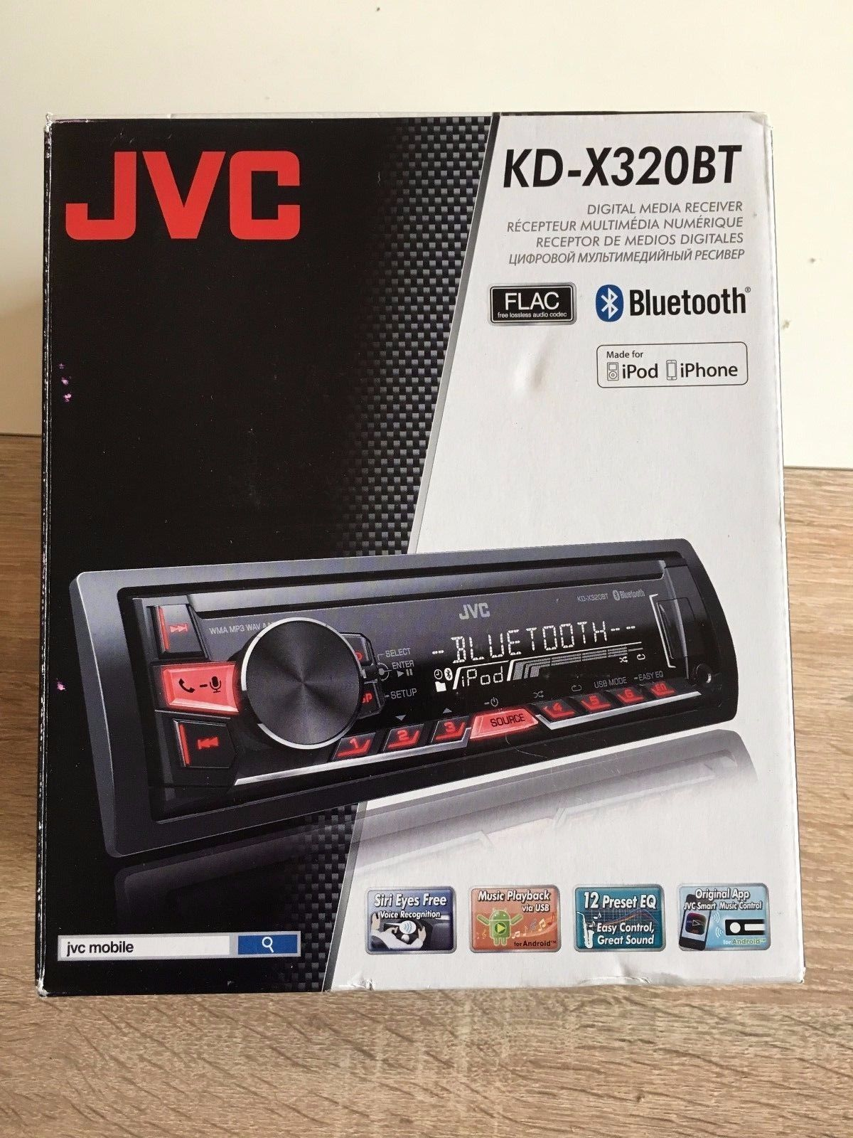 JVC kd-r792bt cd//mp3 autoradio Avec Bluetooth//USB//AUX-IN