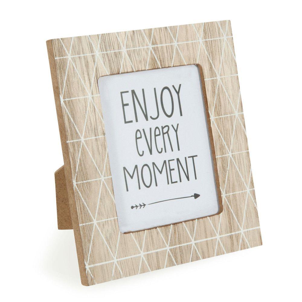 Marco de fotos de madera blanco 11 x 13 cm KAROLINA | Cuadros ...