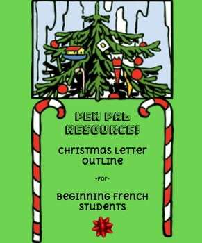 Pen pal letter outline - Christmas Excellent resource to