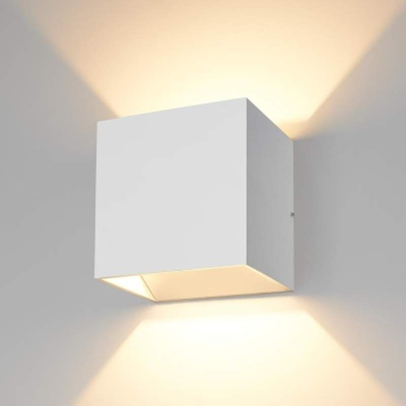 Bruck lighting 103040 qb led wall sconce dimmable ada compliant white indoor lighting wall sconces