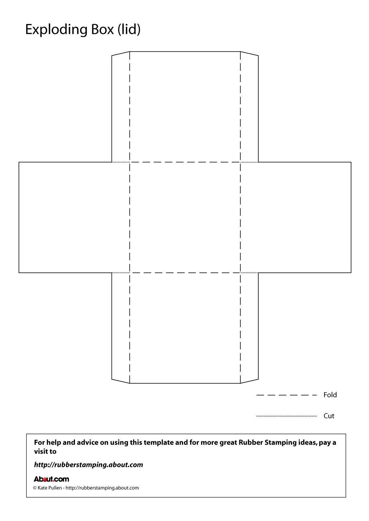 Make An Exploding Box With This Free Printable Template Inside Card Box Template Generator Fugozinsurance In 2020 Box Template Exploding Boxes Exploding Box Template