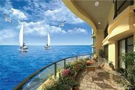 Image result for sitting on the beach murals