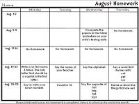 Kindertrips Journeys Homework CalendarsFreebie  Daily Folder