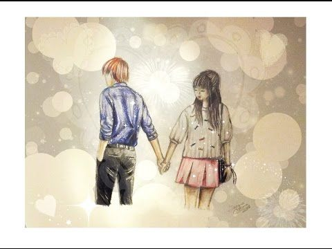 ♡ How To Draw A Couple Holding Hands ♡ | Ioana Cotuna - YouTube