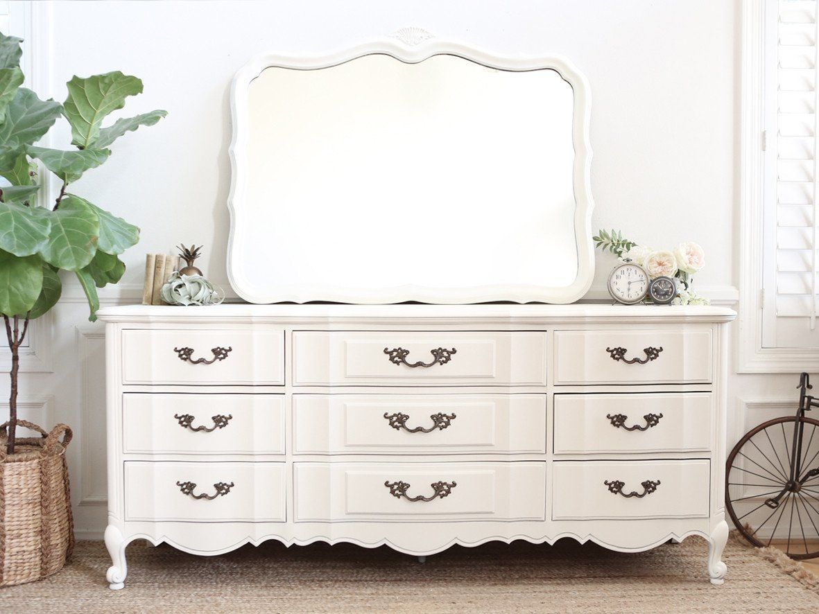 Thomasville Shabby Chic French Provincial Vintage Dresser Buffet  # Muebles Novella