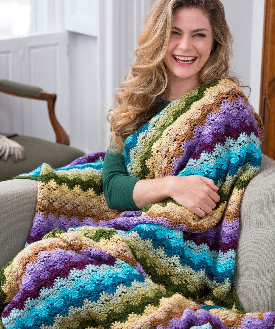 Twilight shells throw by marianne forrestal red heart yarns twilight shells throw by marianne forrestal red heart yarns easy crochet free pattern bankloansurffo Image collections