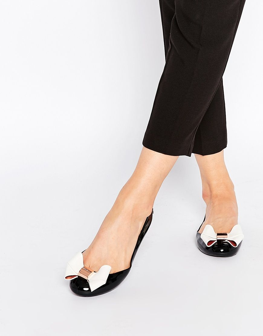 Image 1 of Ted Baker Faiyte Oversized Bow Ballet Flat Shoes