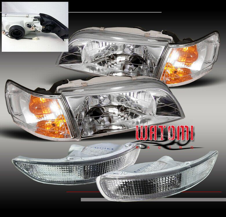 Ad Ebay 93 97 Toyota Corolla Crystal Head Light Corner Bumper Signal Jdm Chrome 94 95 96 Toyota Corolla Corolla 1995 Corolla
