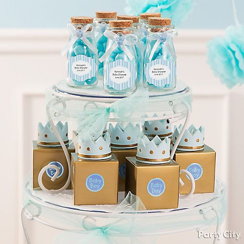 Prince Baby Shower Candy Display Idea Little Prince Baby Shower