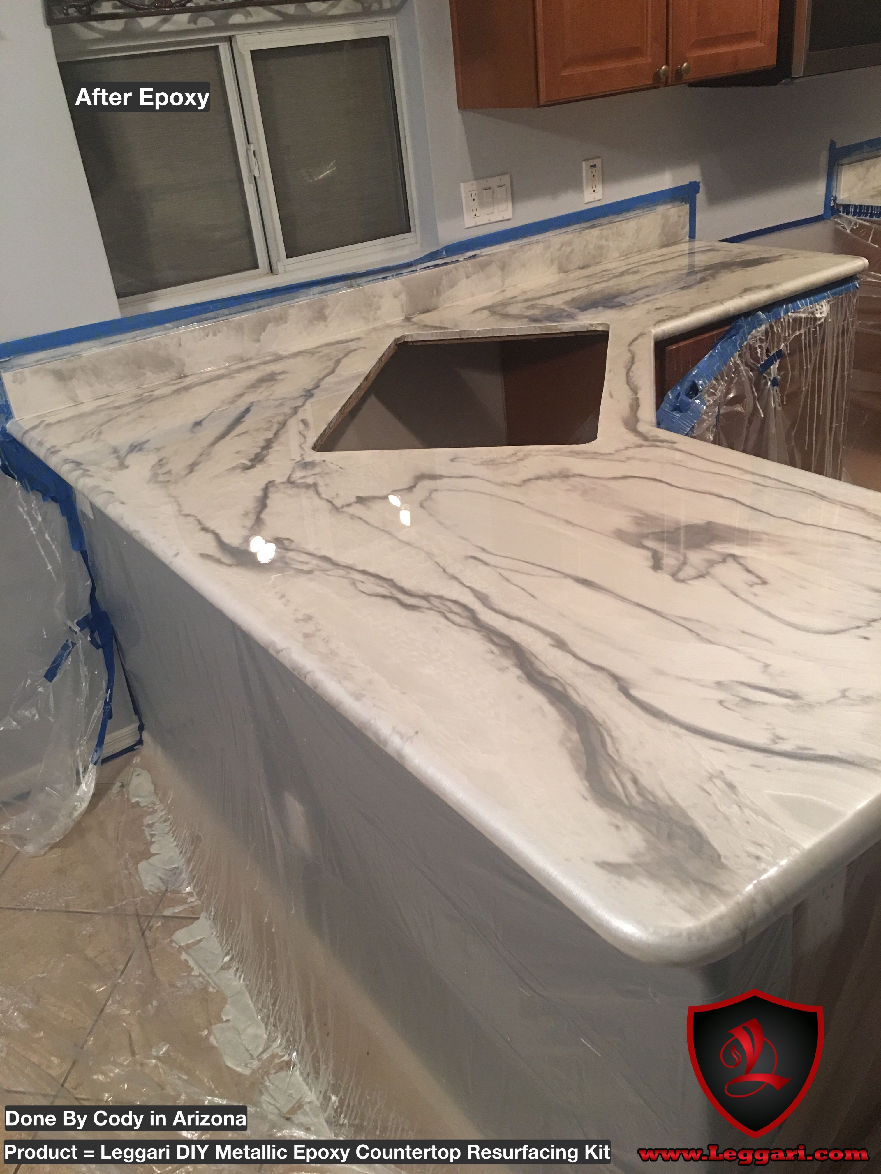 Kitchen Countertop Resurfacing Island Hoods Another First Time User Of Our Products And It Looks