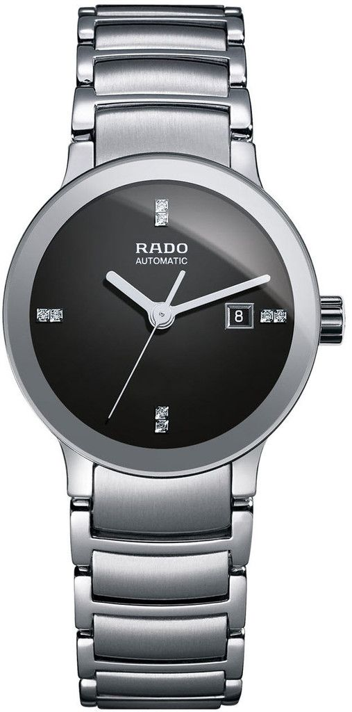 Rado Watch Centrix Sm #bezel-fixed #bracelet-strap-steel #brand-rado #case-material-steel #case-width-28mm #date-yes #delivery-timescale-4-7-days #dial-colour-black #gender-ladies #luxury #movement-automatic #official-stockist-for-rado-watches #packaging-rado-watch-packaging #style-dress #subcat-centrix #supplier-model-no-r30940703 #warranty-rado-official-2-year-guarantee #water-resistant-30m