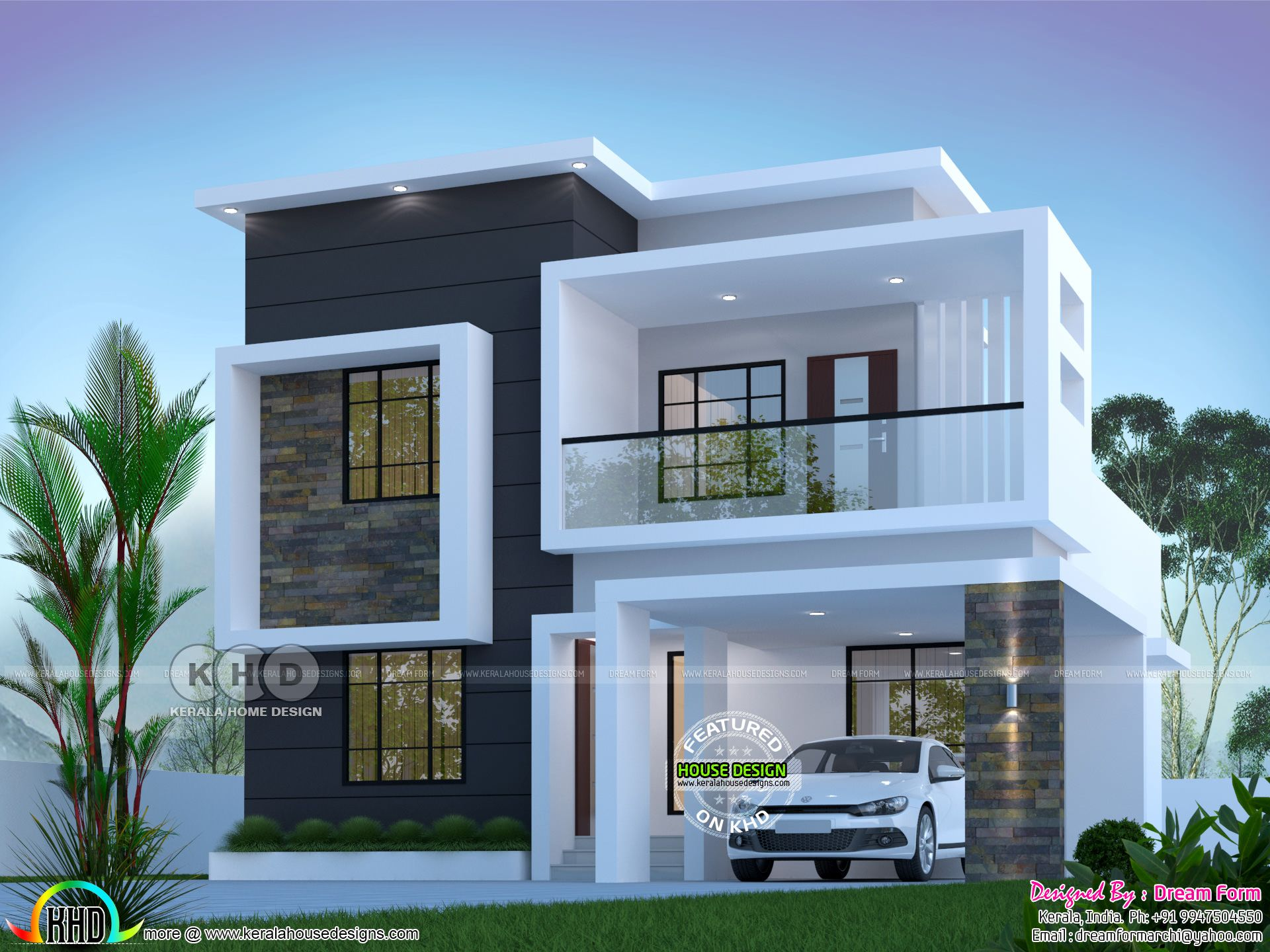 House Plans 1800 Sq Ft Modern In 2020 Architect Design House Kerala House Design Modern Contemporary House Plans
