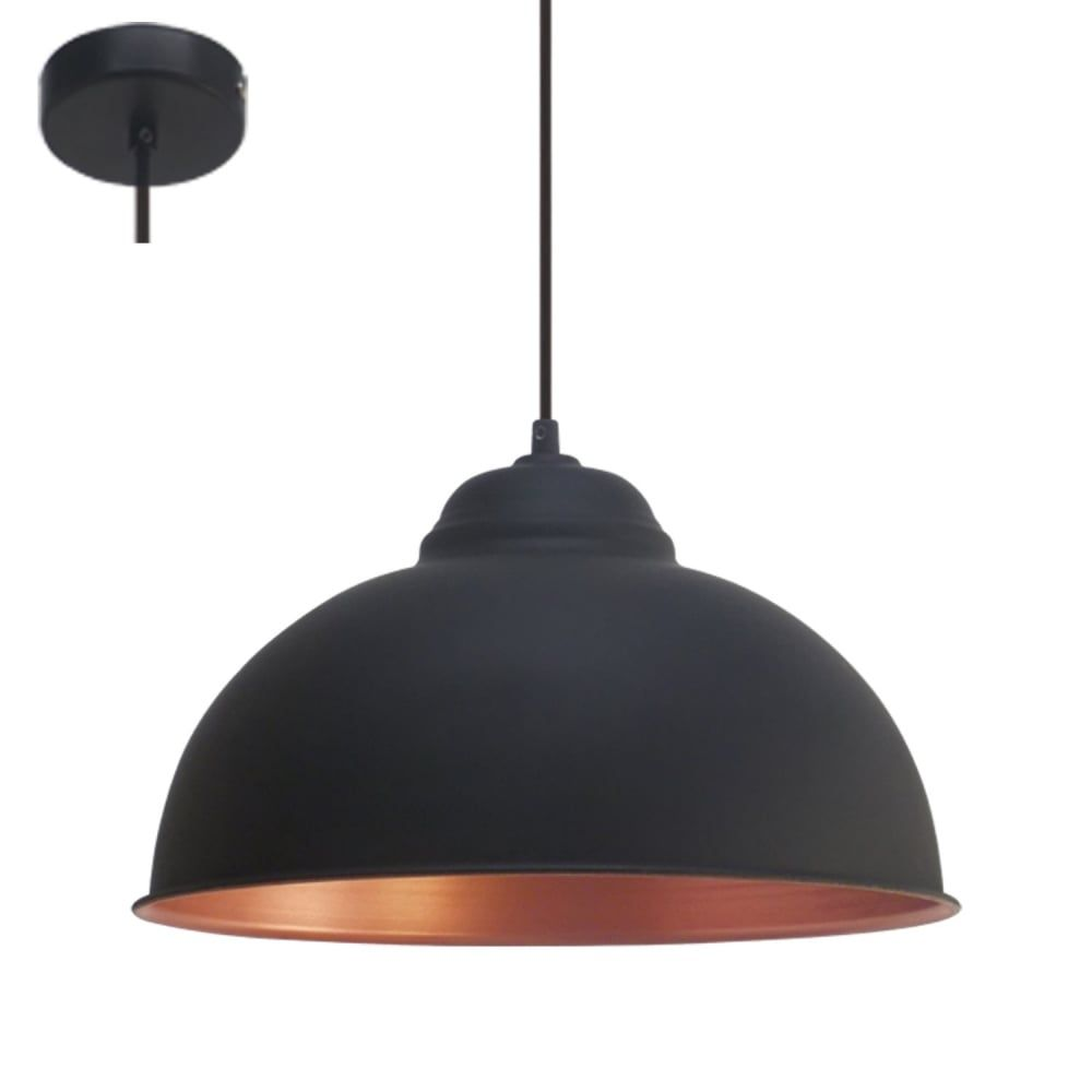 Eglo Lighting Truro 2 Vintage Ceiling Pendant Light In Black And