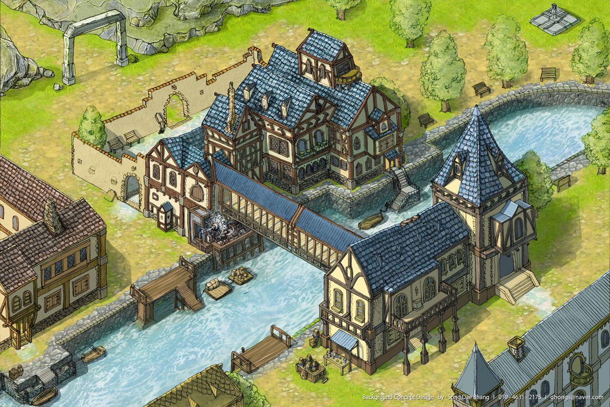GGSCHOOL, Artist 송대방, Student Portfolio for game, 2D Scene Concept Art, www.ggschool.co.kr