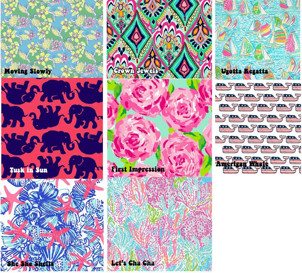 Custom Lilly Pulitzer Monogram State Decal Sticker