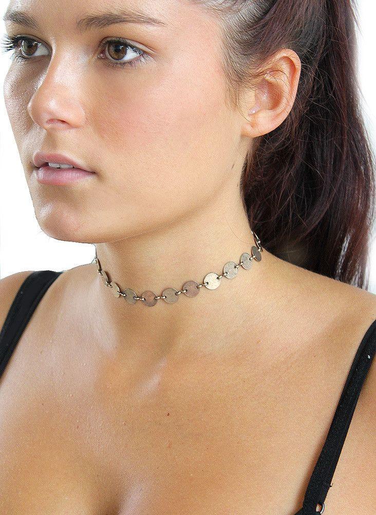 Coin Choker Necklace www.BeHoneyBee.com
