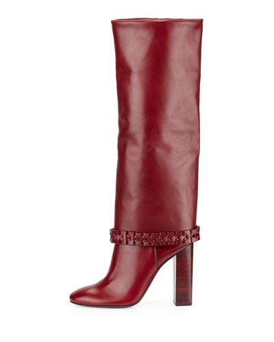 b7ac0f83623 X2VZX Tory Burch Sarava Leather Knee Boot