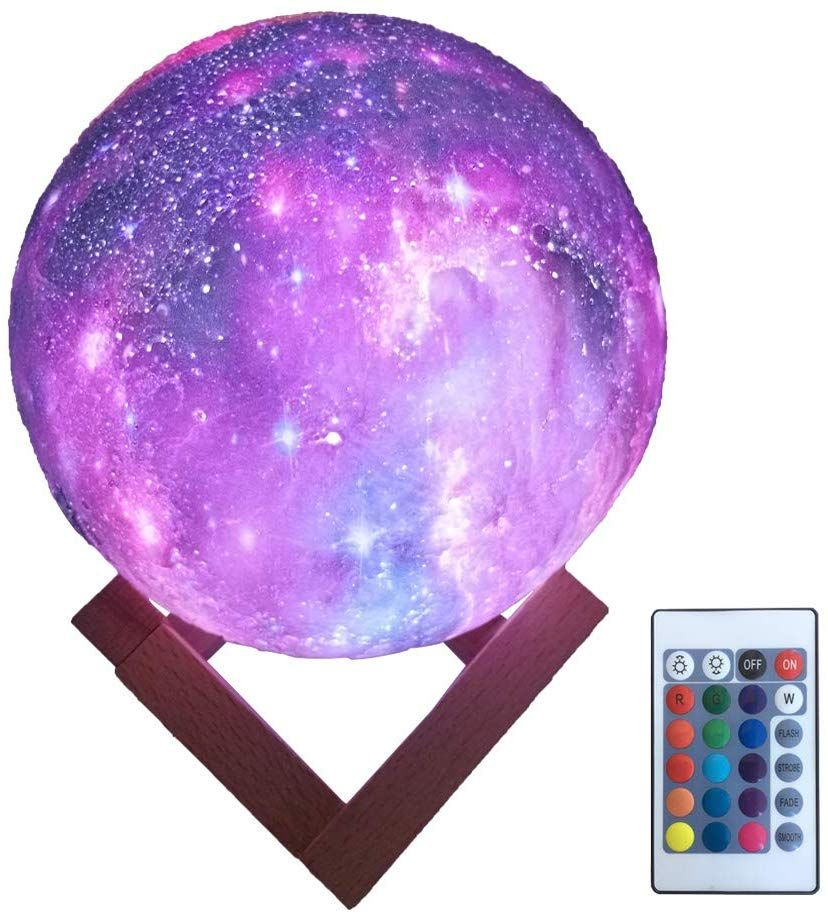 Hyodream 3d Printing Moon Lamp Moon Light Kids Night Light 16 Color Change Touch And Remote Control Star Light As A Gif Night Light Kids Kids Night Night Light