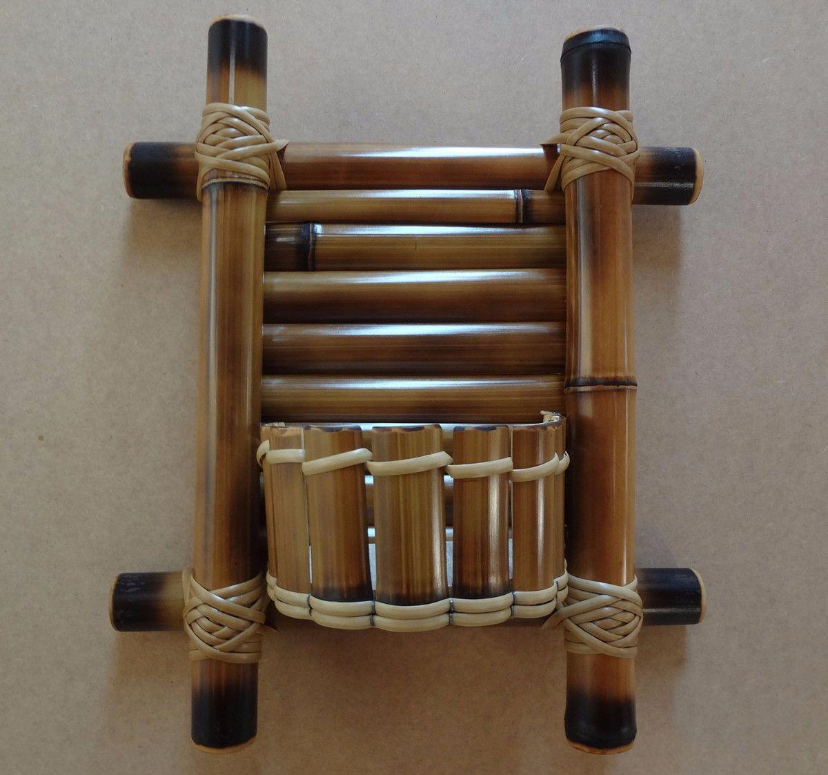 Artesanato Com Cd Velho ~ Mini floreira de bambu Bambu, Artesanato de bambu e Artesanato