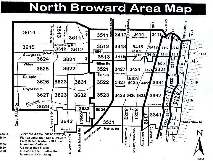 North Broward Area Map South florida real estate, Miami